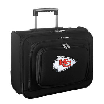 Kansas City Chiefs Carry-On Rolling Laptop Bag - Black - http://www.shareasale.com/m-pr.cfm?merchantID=7124&userID=1042934&productID=540322700 / Kansas City Chiefs