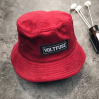 Retro Unisex Red VOLTFUSE Skateboard Hats Cap