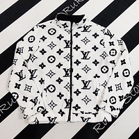 Louis Vuitton LV men women printed Plush sweater zip coat