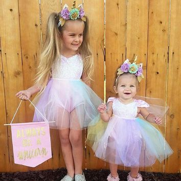 Cute Baby Girl Sequins Princess Party Dress
