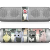 The Vintage Cat portrait Skin for the Beats by Dre Pill Bluetooth Speaker