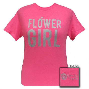 Girlie Girl Originals Flower Girl Wedding Bridal Shower Party T-Shirt