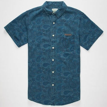 Lira Paisley Mens Shirt Blue  In Sizes