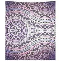 Purple Pattern Bohemian Tapestry Wall Hanging Meditation Yoga Hippie