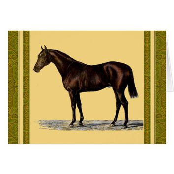 Brown Horse Card