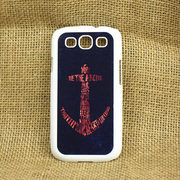 Samsung Galaxy S3 case --Anchor,plastic case side in black or white