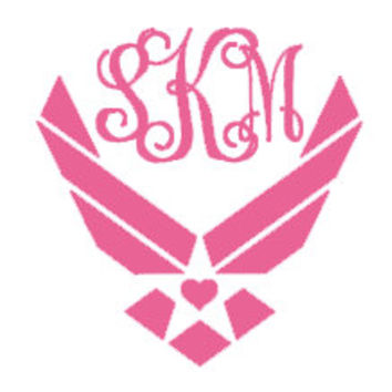 Air Force Monogram Decal for Car, Notebook, Laptop, Water Bottle, Anything!
