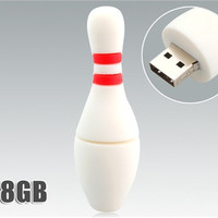 8 GB Bowling Ball USB Flash Drive (White)