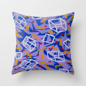 90's Feels Throw Pillow by Ducky B