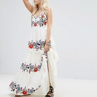 Glamorous Petite Floral Embroidered Cami Maxi Dress at asos.com