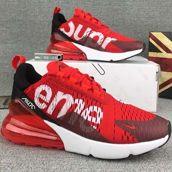 NIKE & Supreme joint models AIR fashion leisure cushion running shoes F-CSXY red