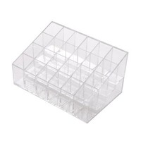 FOONEE 24 Stand Transparent Plastic Trapezoid Makeup Cosmetic Organizer Display Stand