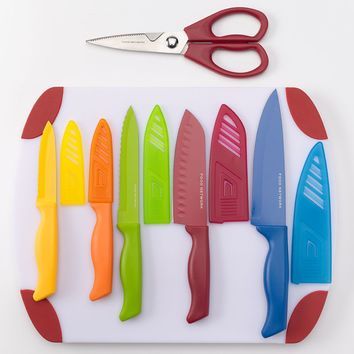 Food Network 12-pc. Cutlery Set (Blue/Green/Red)