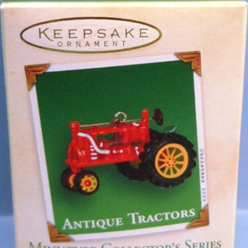 2002 Antique Tractors Hallmark Retired Miniature Series Ornament