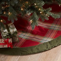 Blake Plaid and Velvet Tree Skirt