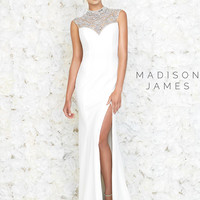 Heavily Embellished Madison James Prom Gown 15-145