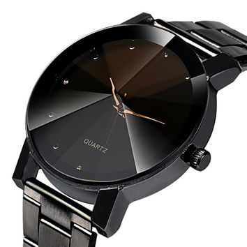 New Luxury Fashion Crystal Stainless Steel Wrist Watch