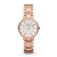 Virginia Rose-Tone Stainless Steel Watch