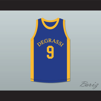Jimmy Brooks 9 Degrassi Community School Panthers Basketball Jersey