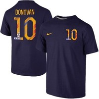 Landon Donovan USA Nike Name & Number T-Shirt - Navy Blue