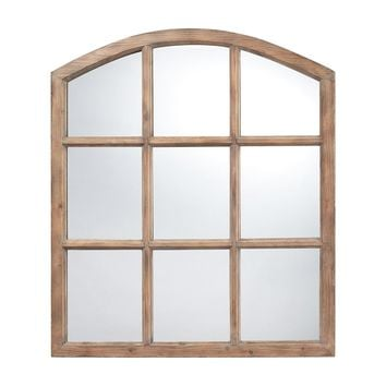 Union Faux Window Mirror Light Oak