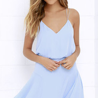 Wanna Bet? Periwinkle Blue Sleeveless Dress