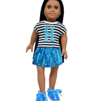 3 PC INITIAL DOLL OUTFIT | GIRLS 18 INCH DOLL CLOTHES BEAUTY, ROOM & TOYS | SHOP JUSTICE