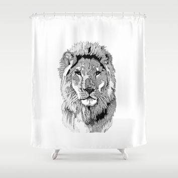 Animal Prints - Proud Lion - By Sharon Cummings Shower Curtain by Sharon Cummings