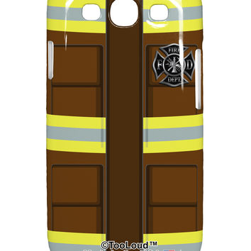 Firefighter Brown AOP Samsung Galaxy S3 Plastic Case All Over Print