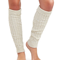 Marled Ribbed Knit Legwarmers | Wet Seal