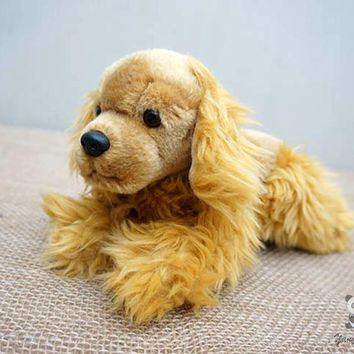 Lying Cocker Spaniel Dog Stuffed Animal Plush Toy 10""