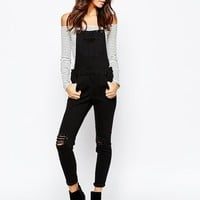New Look Knee Slash Skinny Overalls