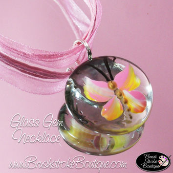 Hand Painted Jewelry - Light Pink Butterflies Are Free - Original Designs by Cathy Kraemer
