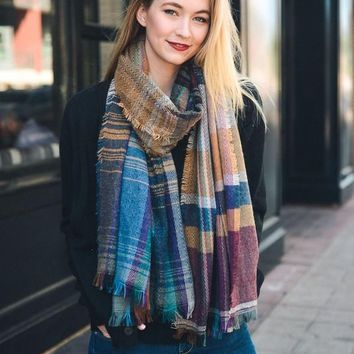 Multicolor Plaid Scarf