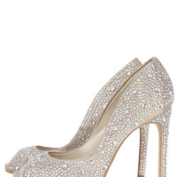 Crystal encrusted peep toe | Luxury Women's xmlfeed | Karen Millen