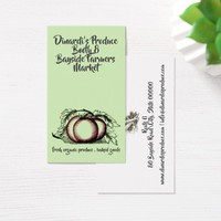 Tomato From Vine Produce Farmer Business Card