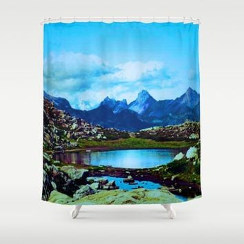Vacation Shower Curtain by Jessica Ivy