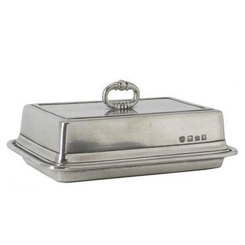 Match Pewter Double Butter Dish