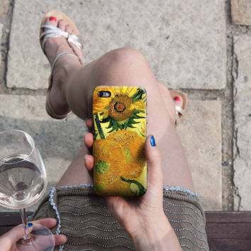 Sunflowers - Van Gogh iPhone Case 6, 6S, 6 Plus, 4S, 5S, Sony, HTC, LG, Samsung Galaxy, Huawei. Art Painting. Gift Idea. Gift for him her
