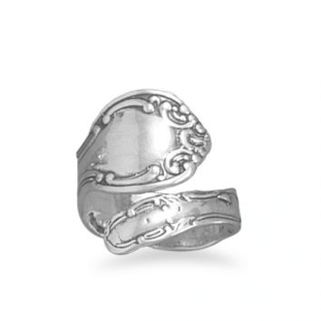 .925 Sterling Silver Spoon Ring