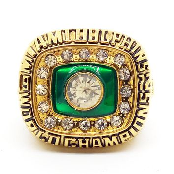 1972 Miami Dolphin World Champions Rings with brown wooden box