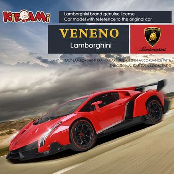 KIDAMI 1:16 remote control car model Lamborghini VENENO rechargeable light drift racing car for children genuine toys hot wheels