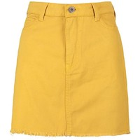 Mustard Denim Skirt | Boohoo