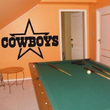 Dallas Cowboys Wall art Sticker Decal Vinyl Wall Decal Home Decor Vinyl Removable wall stickers for Home Decoration