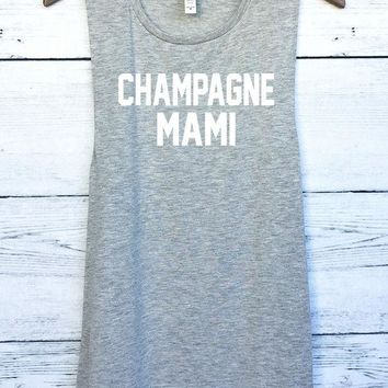 ac NOVQ2A Champagne Mami Drake Muscle Tank Top