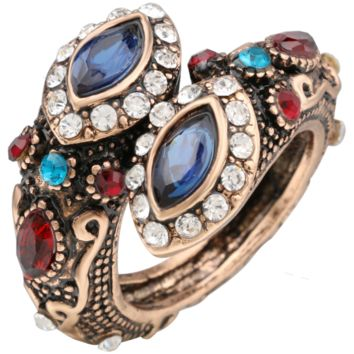 Bohemian / Turkish Antique Style Gemstone & Crystal Ring