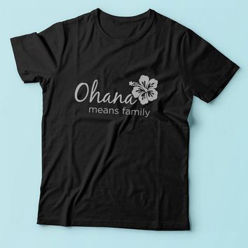 Ohana Means Family Disney Lilo And Stitch Disney Quotes Men'S T Shirt