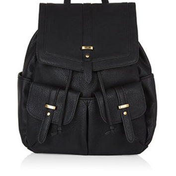 Tab PU Backpack | Black | Accessorize