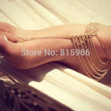 Anklet Jewelry  CF521   1PCS fashion women body chain dance foot chain jewelry zinc alloy anklet chain