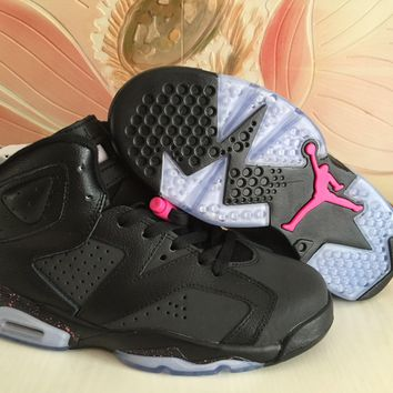 Air Jordan 6 Retro Men Women Black Pink